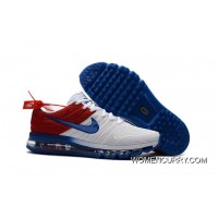 New Nike Air Max Running Shoes White Blue Red- Release Cheap To Buy