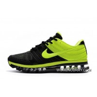 New Nike Air Max Sneakers Trainers Black Green - Release Discount