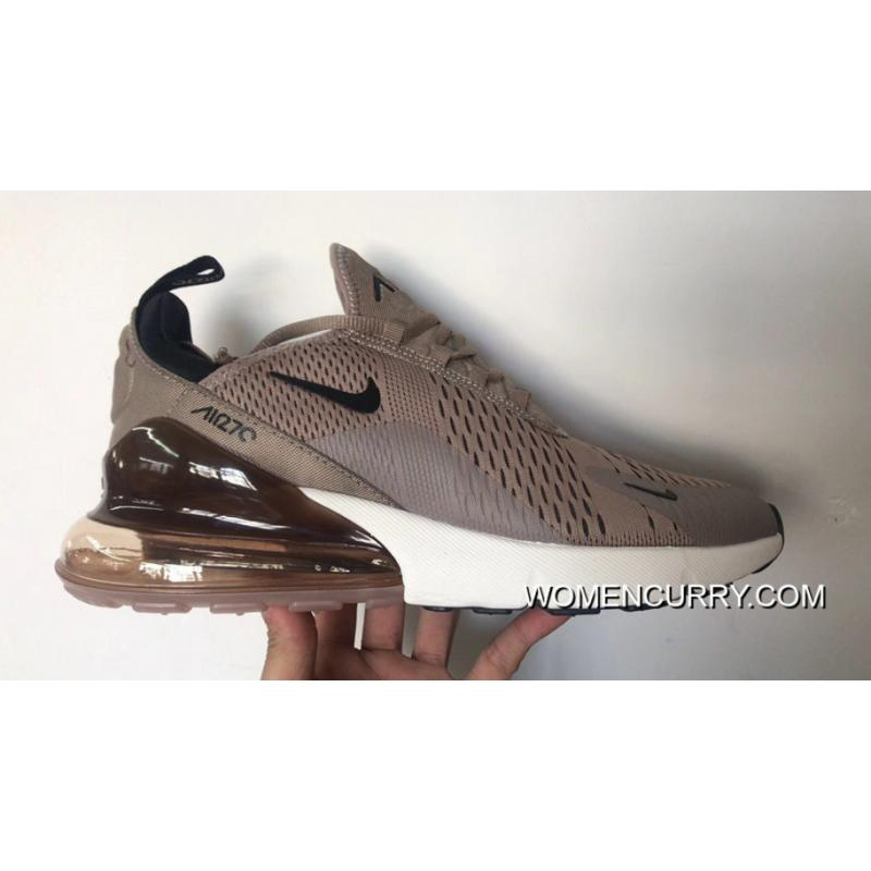9d5fbee7d729 Nike Air Max 270 Nike New Heel Half-palm Cushion Jogging Shoes Khaki ...