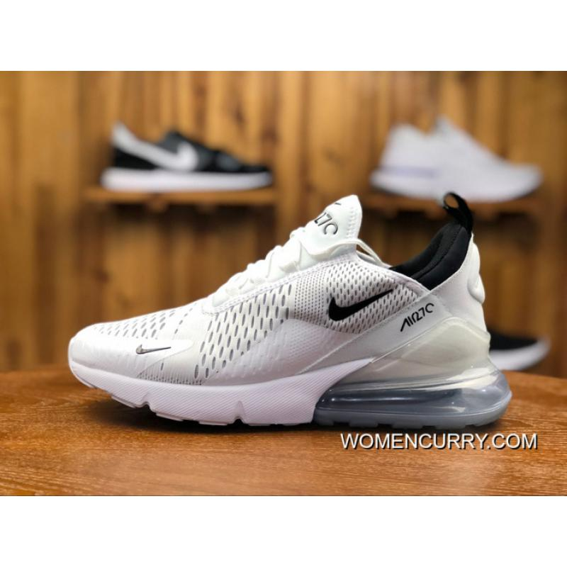 quality design a28aa 0e4b5 USD  87.09  243.85. Nike Air Max 270 Pure White White And Black Women Shoes  And Men Shoes Casual Sport ...