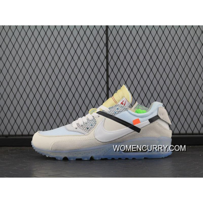 OffWhite Nike Air Max 90 X Zoom Jogging Shoes Blue With White Bottom Aa7293100 Men New Year Deals
