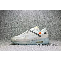 Nike Air Max 90 X Off-White Limited Joint Sport Running Shoes AA7293-100 Top Deals