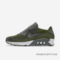 Nike Air Max 90 Ultra 2.0 FLYKNIT MAX90 Woven FLYKNIT Military Green Top Deals