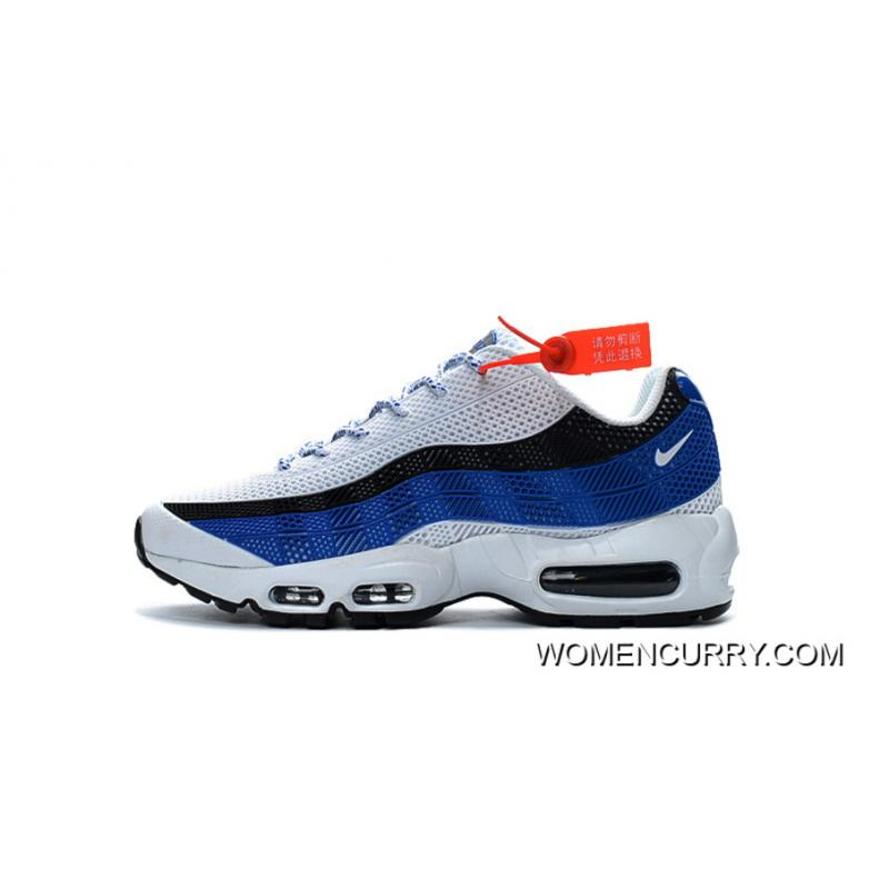 new style 36df4 8b958 Free Shipping Hot Sale Nike AIR MAX 95 Classic Retro Shoes Nanotechnology  KPU Material Durable Non-rupture White Black Sapphire Blue