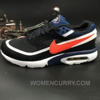 Nike Air Max Premium BW 819523-064 Black Navy Blue Red Authentic