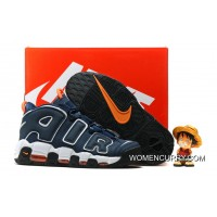 Nike Air More Uptempo Dark Obsidian/Orange-White Free Shipping