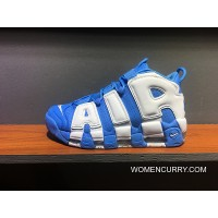 Outlet Nike Pippen Air Big More Uptempo Qs Large Also Shoes Series Contains 921948-401 North Carolina Blue And White