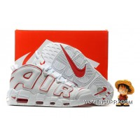 For Sale Nike Air More Uptempo Pippen White Red Men