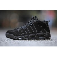 Nike Air More Uptempo AIR Triple Black 3M 414962-004 Women/men Free Shipping