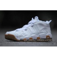 Nike Air More Uptempo AIR 414962-100-103 White Gum Women/men Free Shipping
