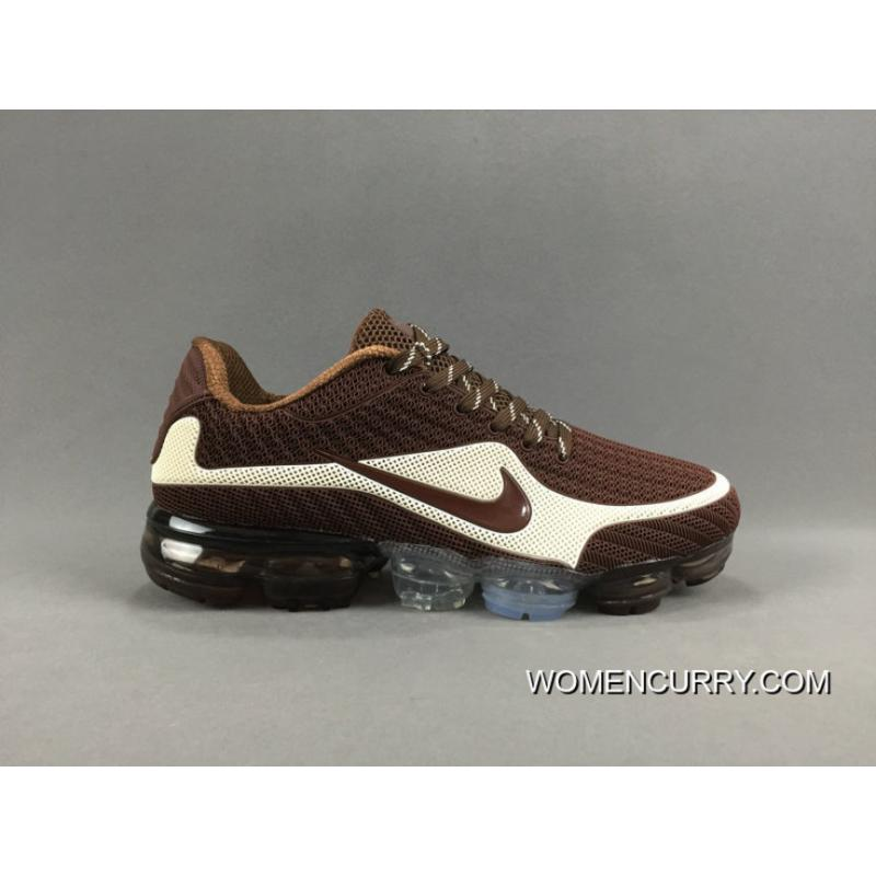 size 40 e8a6a 81454 NIKE AIR VAPORMAX FLYKNIT 2018 Brown White For Sale