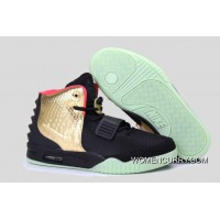 """Glow In The Dark """"Imperial"""" Nike Air Yeezy 2 Black Gold Cheap To Buy"""