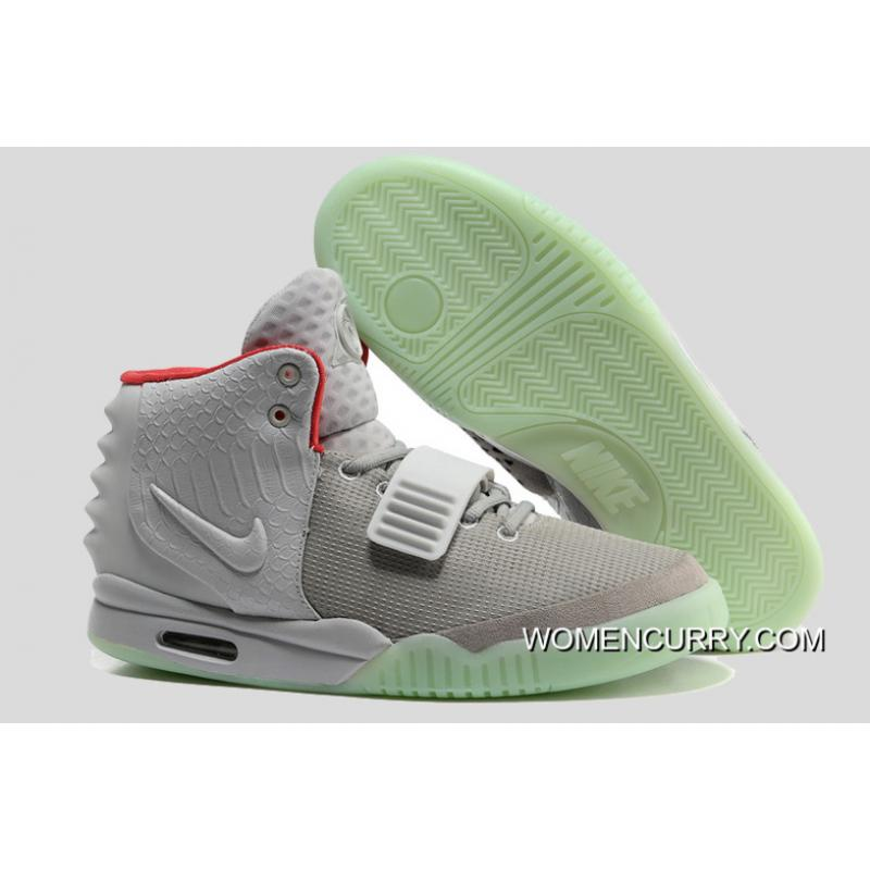 Nike Air Yeezy 2 Wolf GreyPure Platinum Glow In The Dark New Style