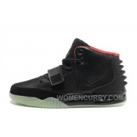 Nike Air Yeezy 2 Black/Solar Red Glow In The Dark Online CbW7Fd