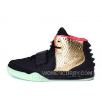 "Nike Air Yeezy 2 ""Imperial"" Black Gold Glow In The Dark Top Deals 4tsJA"