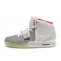 Nike Air Yeezy 2 Wolf Grey/Pure Platinum Glow In The Dark Free Shipping PQ3p8hH