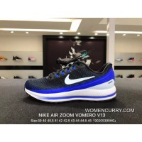 Free Shipping Nike Air Zoom Vomero V13 Lunarepic Series Mens Sport Shoes Black Treasure Blue 922908-002 5 39 40 And 42 40 5 44 5 43 And 44
