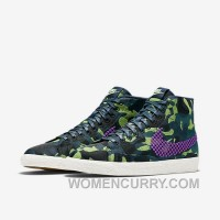 NIKE BLAZER MID JACQUARD 2017 Spring New 807382-200 Women Black Purple Lastest