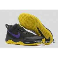 Nike HyperRev Black/Purple Yellow Men's Basketball Shoes Lastest