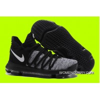 New Nike KD 10 Black/Grey White Best