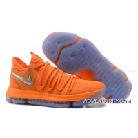 "Discount Nike KD 10 ""All-Star"" Orange Silver"