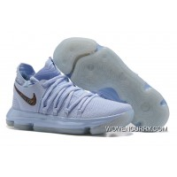 "Nike KD 10 ""Anniversary"" Faint Blue/Multi Free Shipping"