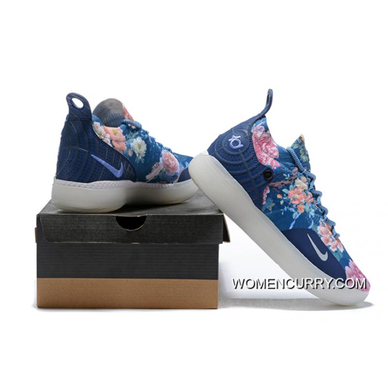 """promo code 7a7f8 bff3a ... Men s Nike KD 11 """"Floral Blue"""" Basketball Shoes New Style ..."""