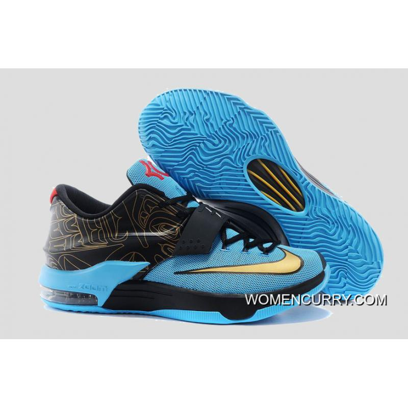 """official photos 48f1a 2c072 """"N7"""" Nike KD 7 Dark Turquoise/Metallic Gold-Black-University Red Copuon Code"""