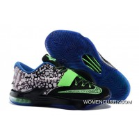 Nike KD 7 'Electric Eel' Metallic Pewter/Anthracite/Lyon Blue/Flash Lime New Release