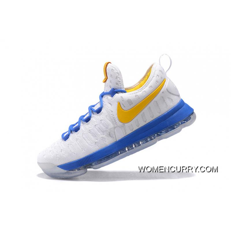 """info for 50ba4 971cf ... """"Golden State Warriors"""" Nike KD 9 White Yellow Blue Discount"""