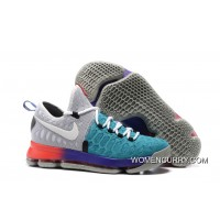 Nike KD 9 Light Grey/White-Aqua Men's Basketball Shoes New Style