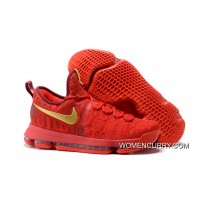Nike KD 9 Red Gold Men's Basketball Shoes Online