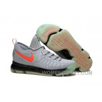 Nike KD 9 Limited Edition Gray Black Red Fluorescence Mens Basketball Shoes Online EZxXWi
