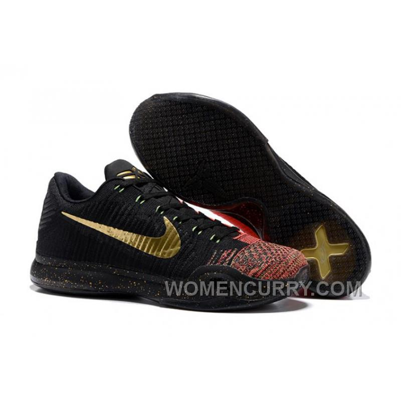 "3a6fd10f18d4 2017 Nike Kobe 10 Elite Low ""Christmas"" Mens Basketball Shoes Online ..."