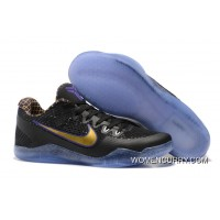 """Carpe Diem"" Nike Kobe 11 EM Low Black/White-Court Purple-University Gold Free Shipping"