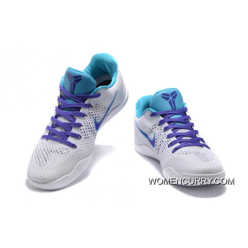 "cheap for discount ec586 6e014 ""Draft Day"" Nike Kobe 11 White/Blue Lagoon-Court Purple For Sale"