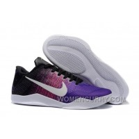 Nike Kobe 11 Black-Purple/Multi-Color Mens Basketball Shoes Super Deals 37TicWH