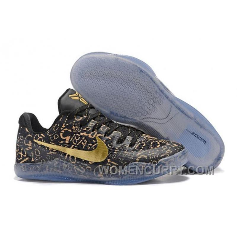 Nike Kobe 11 \u201cMamba Day\u201d Black Gold Mens Basketball Shoes Cheap To Buy  XAsMAx6 ...