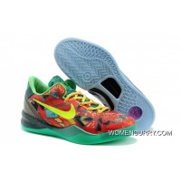 """What The Kobe"" Nike Kobe 8 Electric Orange/Deep Night-Violet-Bright Citrus Discount"