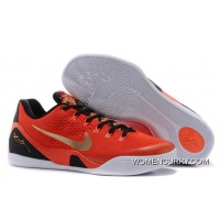 """China"" Nike Kobe 9 EM University Red/Metallic Gold-Black Top Deals"