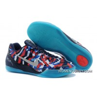 """Independence Day"" Nike Kobe 9 EM White/Metallic Silver-Hyper Cobalt-Action Red- Release Discount"
