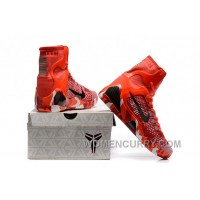 Nike Kobe 9 High Woven Christmas Red 2017 Men Shoes New Style