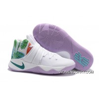 """Easter"" Nike Kyrie 2 White/Hyper Jade-Urban Lilac-Bright Mango New Release"