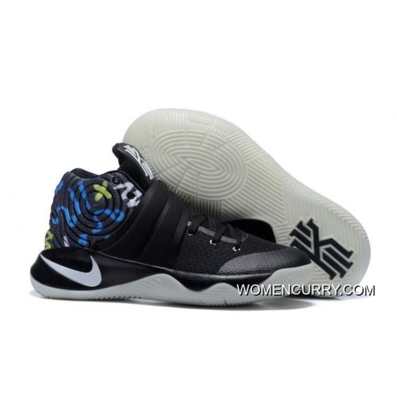 factory authentic f8ed7 b7fa2 Nike Kyrie 2 Black White/Blue Men's Basketball Shoes New Style