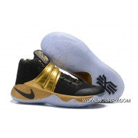 Nike Kyrie 2 Black Gold Men's Basketball Shoes New Style