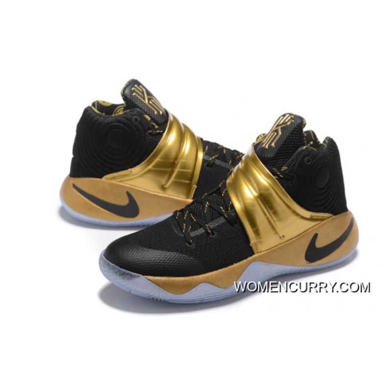 size 40 04a0e 43e3e 2b272 58744  coupon code for nike kyrie 2 black gold mens basketball shoes  new style 07ff9 69c7a