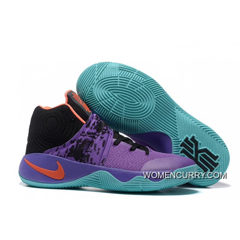 "best cheap ea485 3b203 ""Easter"" Nike Kyrie 2 Purple/Orange Black Men's Basketball Shoes Super Deals"
