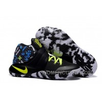 "Nike Kyrie 2 ""Camo"" Black/Neon Green Mens Basketball Shoes Top Deals Z73GQ"
