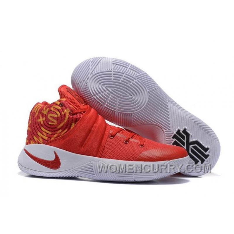newest collection 00040 4b0d7 Nike Kyrie 2 Red White Basketball Shoes For Sale 4wrHb
