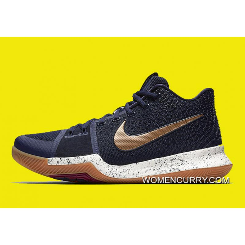 the best attitude 6f518 4d3e9 New Nike Kyrie 3 Obsidian/Metallic Gold-Summit White Discount
